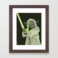 Yoda of Star Wars Framed Art Print