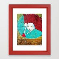 Angel With Heart Framed Art Print