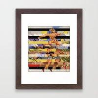Glitch Pin-Up Redux: Cou… Framed Art Print