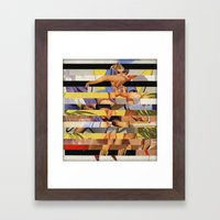 Glitch Pin-Up Redux: Cou… Framed Art Print
