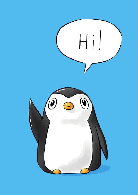 Hi Penguin Canvas Print
