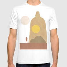 A New Hope Movie Poster Mens Fitted Tee SMALL White