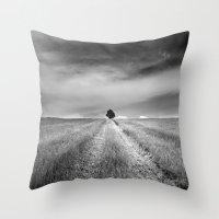 Rural storm. BN Throw Pillow