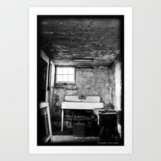 Scary Basement Art Print