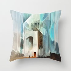 The Crystal-Flesh Hermitage Throw Pillow