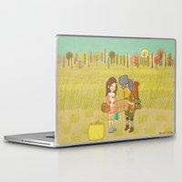 moonrise kingdom Laptop & iPad Skins featuring 'Moonrise Kingdom' by Nicola Colton illustration