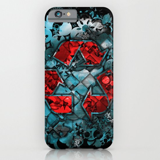 Recycle World - Blue iPhone & iPod Case