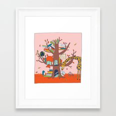 shut up and read Framed Art Print