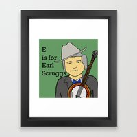Earl Scruggs Framed Art Print