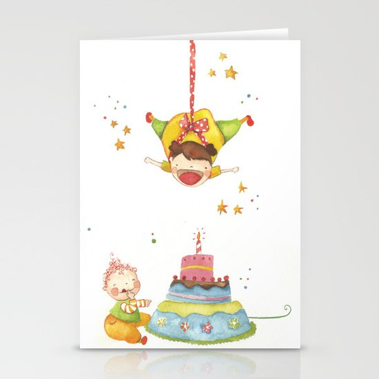 Baby birthday Stationery Card