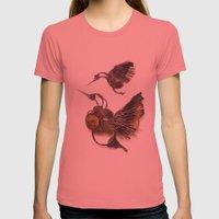Rad's Hummingbirds Womens Fitted Tee Pomegranate SMALL