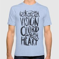 BE THOU MY VISION Mens Fitted Tee Athletic Blue SMALL