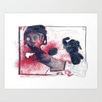 Hockey! Art Print