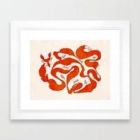 fox tail maze Framed Art Print