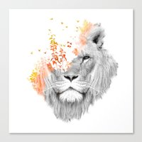 If I Roar (The King Lion… Canvas Print