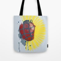 My Heart Goes Boom Tote Bag