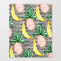 Pineapple and Banana Canvas Print