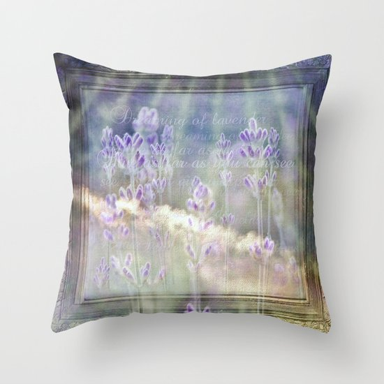 Blue as far as you can see Throw Pillow
