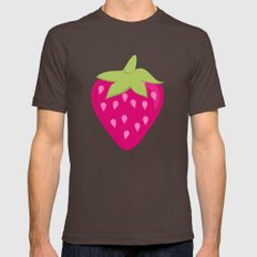 Strawberries Mens Fitted Tee Brown SMALL