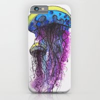 iPhone & iPod Case featuring Sketchy Jellyfish by theartistmakena