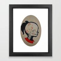 Girl Next Door = Silhoue… Framed Art Print