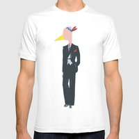 Chief Flaminggg Mens Fitted Tee White SMALL