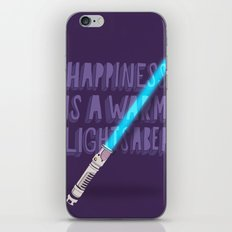 Happiness is a warm Lightsaber iPhone & iPod Skin