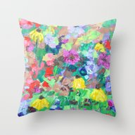 Throw Pillow featuring Texas Wildflowers by Ann Marie Coolick