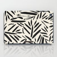 Not So Black and white leaves iPad Case