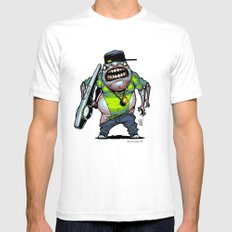 Roswell gang - Lil Fezzo - Villains of G universe White Mens Fitted Tee SMALL