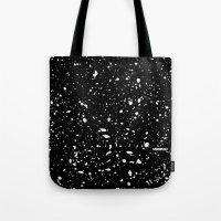 Retro Speckle Print - Black Tote Bag