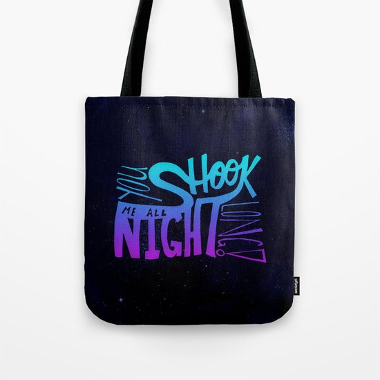 All Night Long Tote Bag