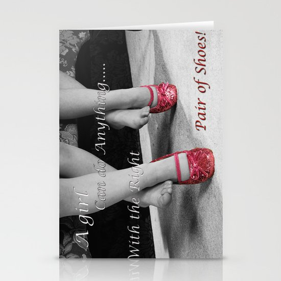 The right Shoes Stationery Card