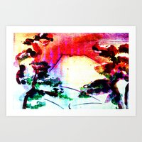 sunset Mountain Art Print
