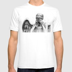 Weeping Angel SMALL Mens Fitted Tee White