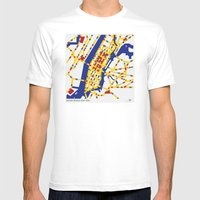 BOOGIE WOOGIE NEW YORK Mens Fitted Tee White SMALL