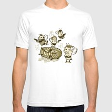 Bee Team SMALL White Mens Fitted Tee