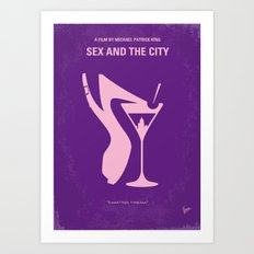No308 My Sex and the City minimal movie poster Art Print