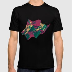 Crystalline 1 SMALL Black Mens Fitted Tee