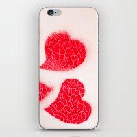 Three Hearts iPhone & iPod Skin