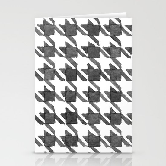 Houndstooth II Stationery Card