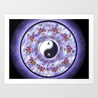 Ying-Yang Mandala Art Print