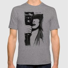 Vintage Camera Girl Mens Fitted Tee Tri-Grey SMALL