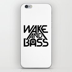 Wake And Bass (Black) iPhone & iPod Skin