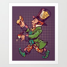 As A Hatter Art Print