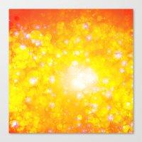 Shimmering Stars Orange Canvas Print