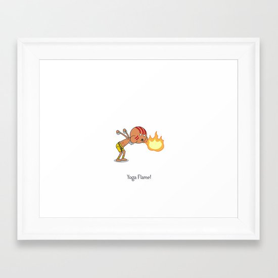Yoga Flame! Framed Art Print