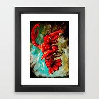 dance lobster Framed Art Print