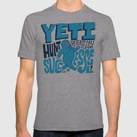 Successful Yeti Hunt Mens Fitted Tee Athletic Grey SMALL