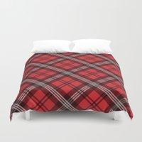 Scottish Plaid (Tartan) - Red Duvet Cover